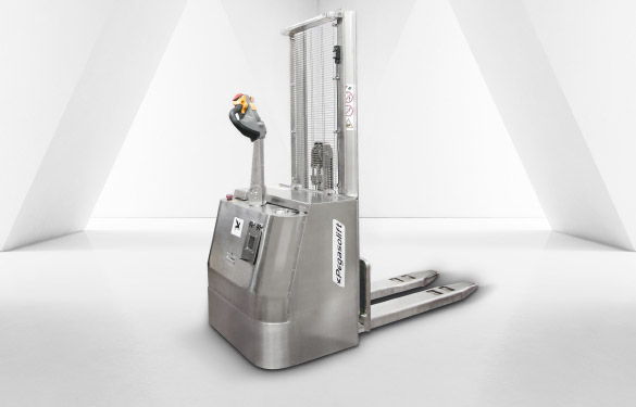 Pegsaolift PL electric pallet stacker in stainless steel