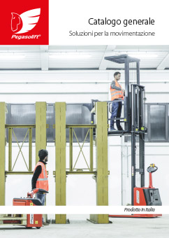 General catalogue electric pallet stackers and pallet trucks Pegasolift